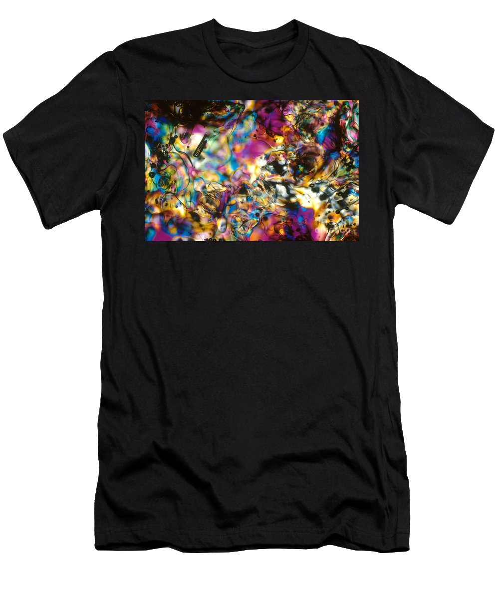 Chemistry Men's T-Shirt (Athletic Fit) featuring the photograph Melting Ice by Michael W Davidson