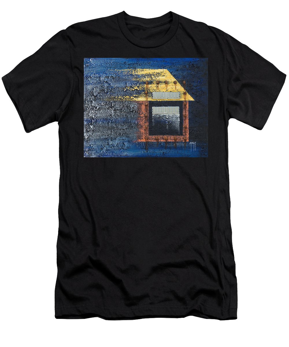 Art Men's T-Shirt (Athletic Fit) featuring the mixed media Memory Loss by Mauro Celotti