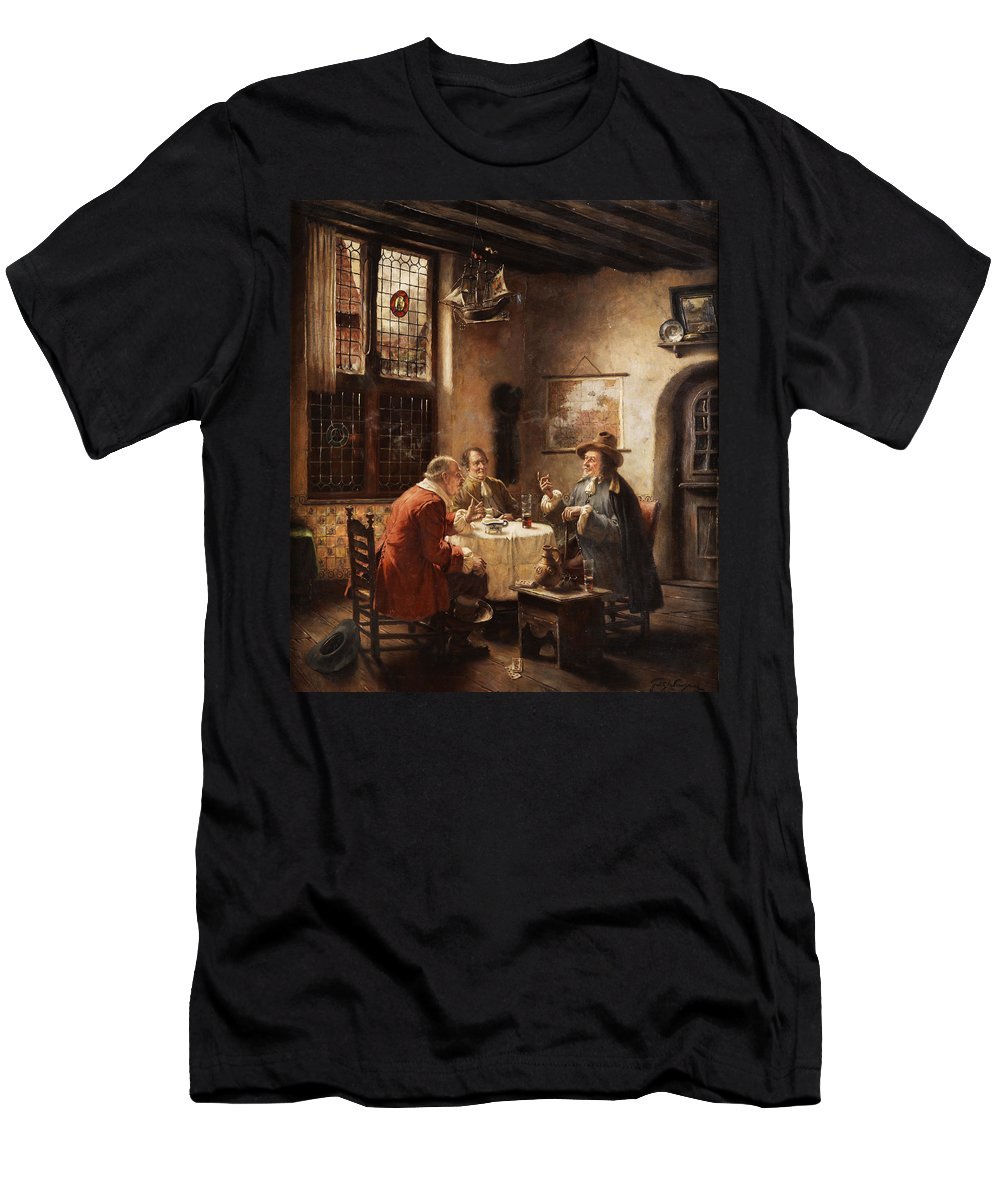 Merchants Men's T-Shirt (Athletic Fit) featuring the painting Merchants by Fritz Wagner