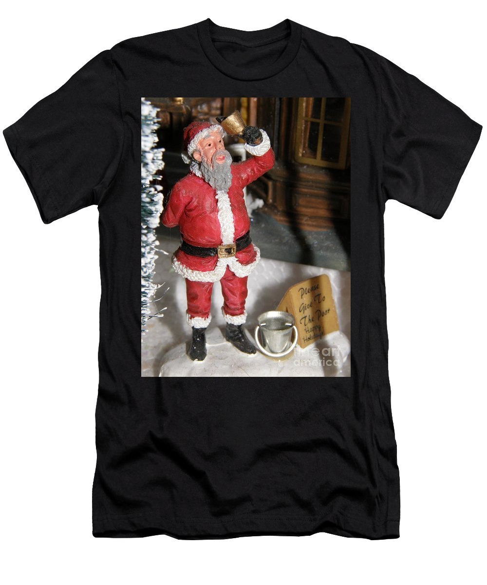 Santa Men's T-Shirt (Athletic Fit) featuring the photograph Merry Christmas by Alice Markham
