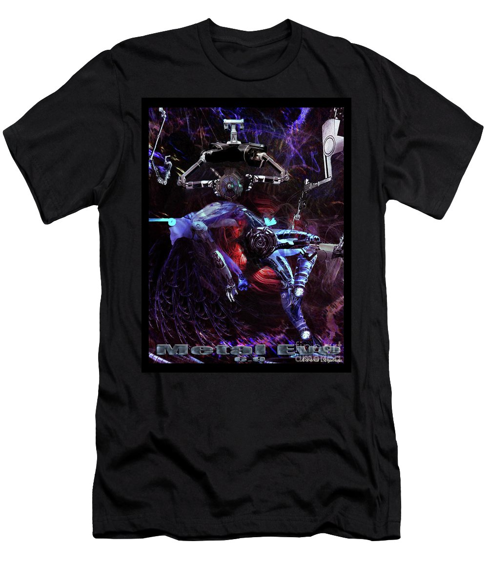 Metal Eve Men's T-Shirt (Athletic Fit) featuring the digital art Metal Eve by Rebecca Stephens