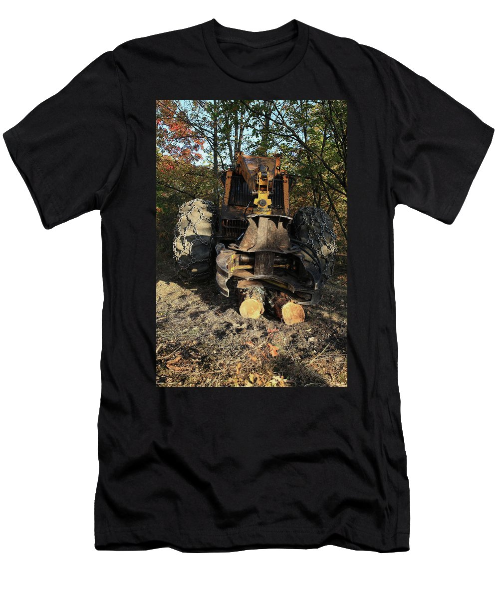 Machine Men's T-Shirt (Athletic Fit) featuring the photograph Metal Jaws by Maglioli Studios