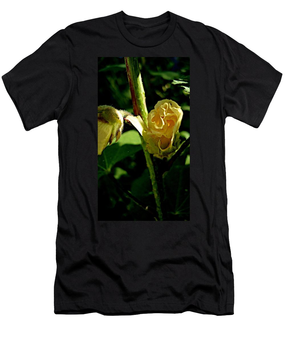 Blooming Flowers Men's T-Shirt (Athletic Fit) featuring the photograph Midnight by Joseph Yarbrough