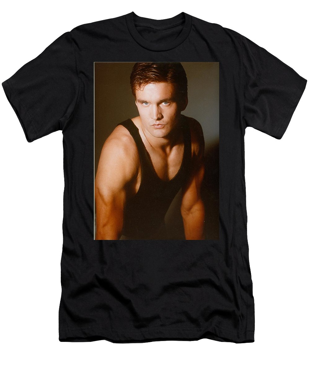 Model Men's T-Shirt (Athletic Fit) featuring the painting Model Robert Sorensen No. 2 by Robert SORENSEN