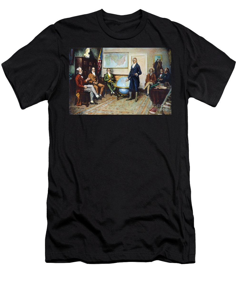 1823 Men's T-Shirt (Athletic Fit) featuring the photograph Monroe Doctrine, 1823 by Granger