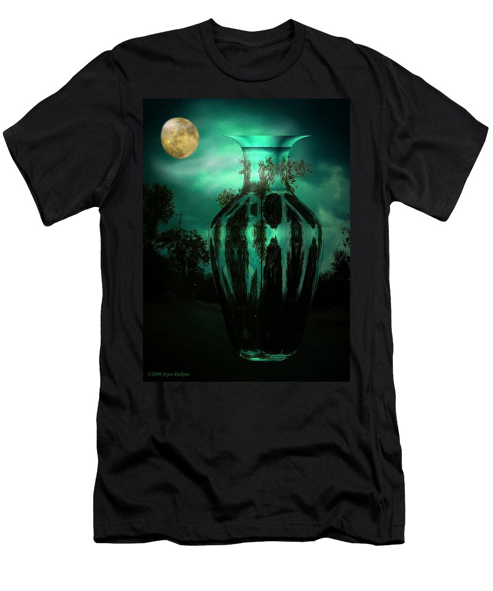 Moon Men's T-Shirt (Athletic Fit) featuring the photograph Moonglow by Joyce Dickens