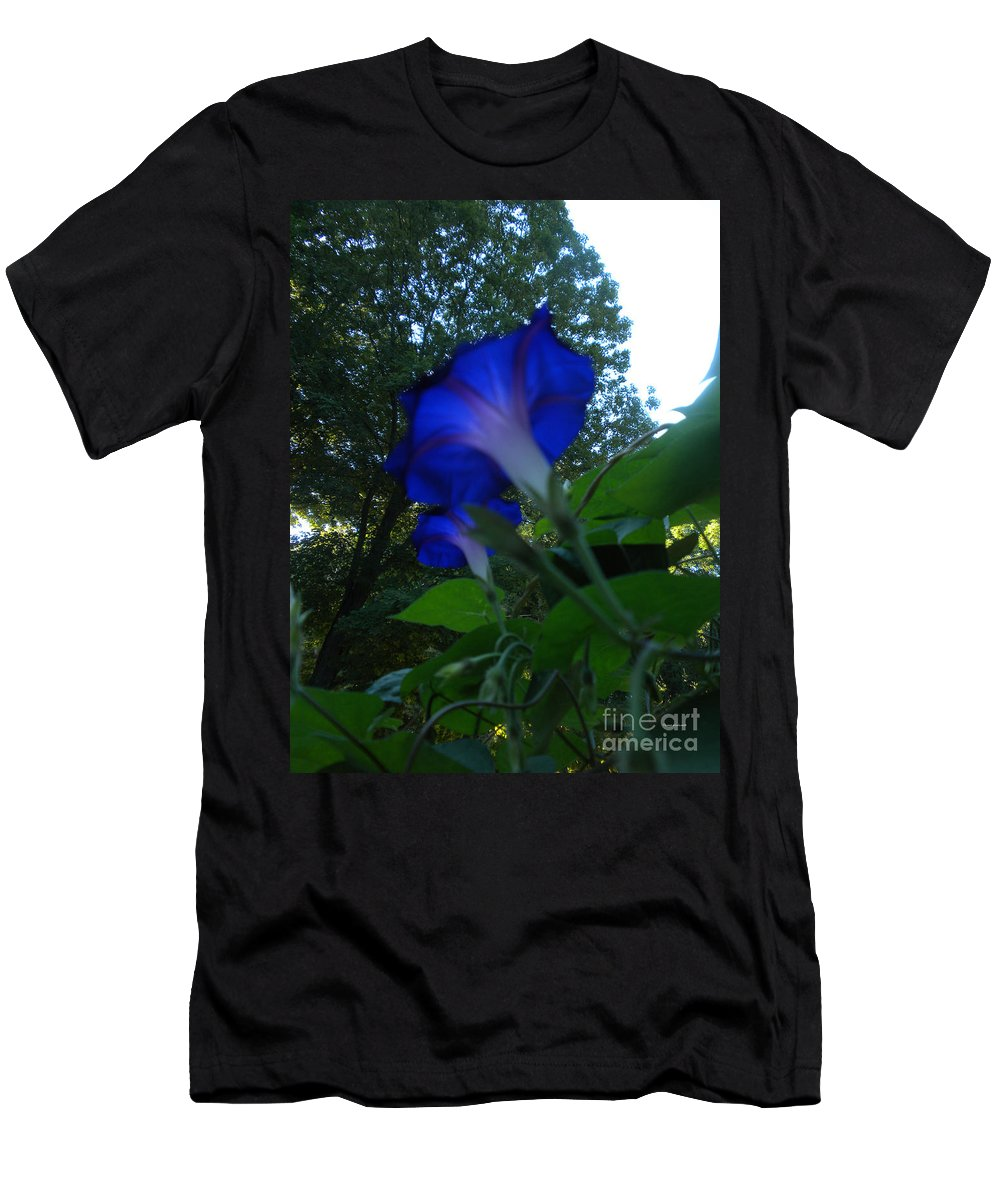 Morning Glory Men's T-Shirt (Athletic Fit) featuring the photograph Morning Glory 01 by Thomas Woolworth