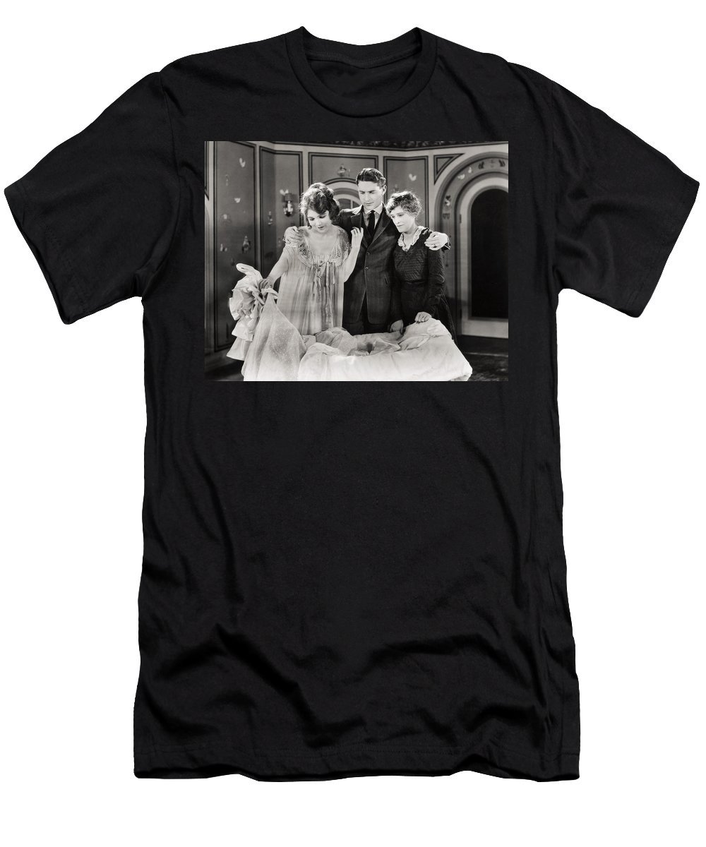 -family Groups- Men's T-Shirt (Athletic Fit) featuring the photograph Mother O Mine, 1921 by Granger