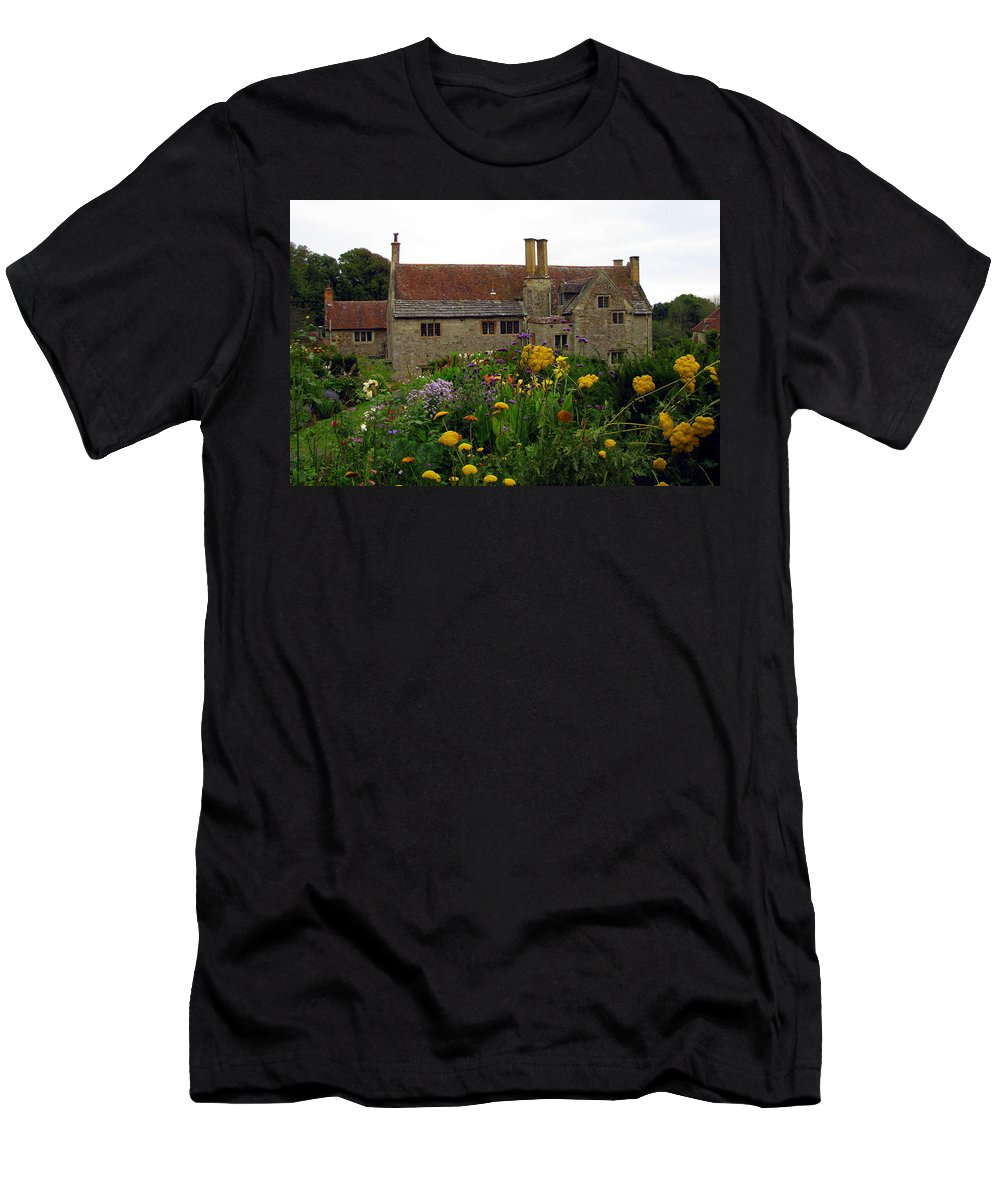 England Men's T-Shirt (Athletic Fit) featuring the photograph Mottiston Manor by Carla Parris