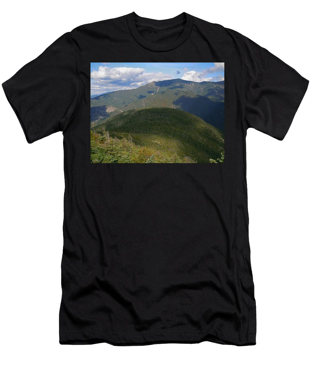 White Mountain National Forest Men's T-Shirt (Athletic Fit) featuring the photograph Mount Lafayette From The Kinsman Trail by Nancy Griswold