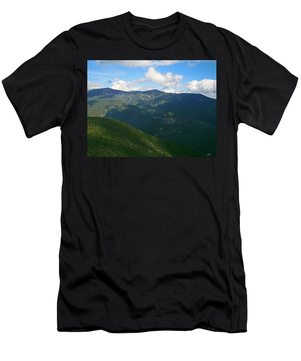 White Mountain National Forest Men's T-Shirt (Athletic Fit) featuring the photograph Mount Lafayette From Top Of Cannon Mountain by Nancy Griswold