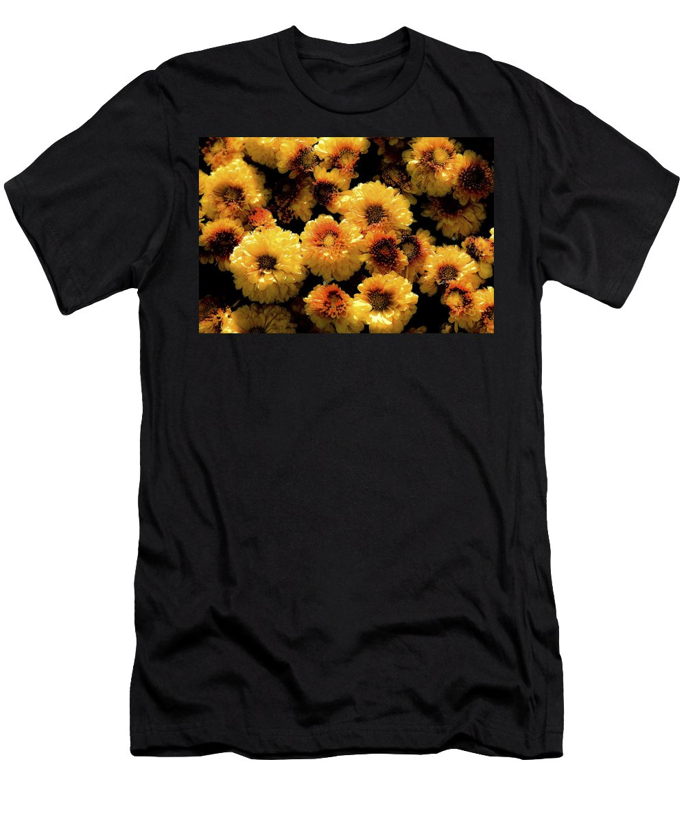 Flowers Men's T-Shirt (Athletic Fit) featuring the photograph Mums The Word by Rich Franco