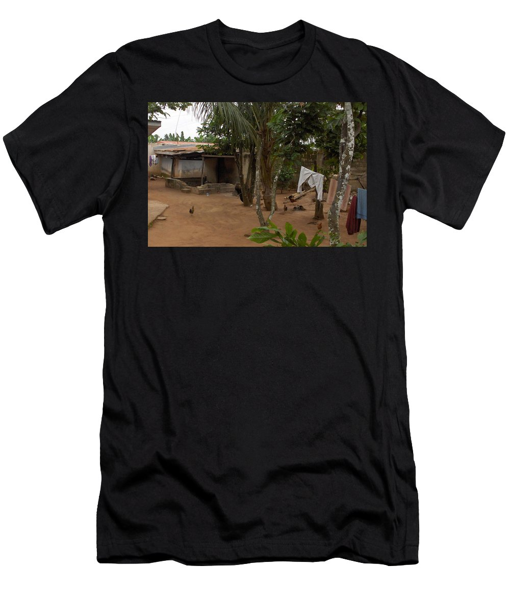 Nigeria Men's T-Shirt (Athletic Fit) featuring the photograph My Nigerian Laundry Room by Amy Hosp