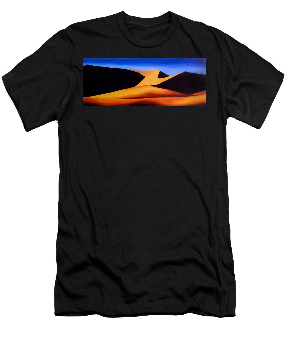 Art Men's T-Shirt (Athletic Fit) featuring the painting Namibia 1 by Mauro Celotti