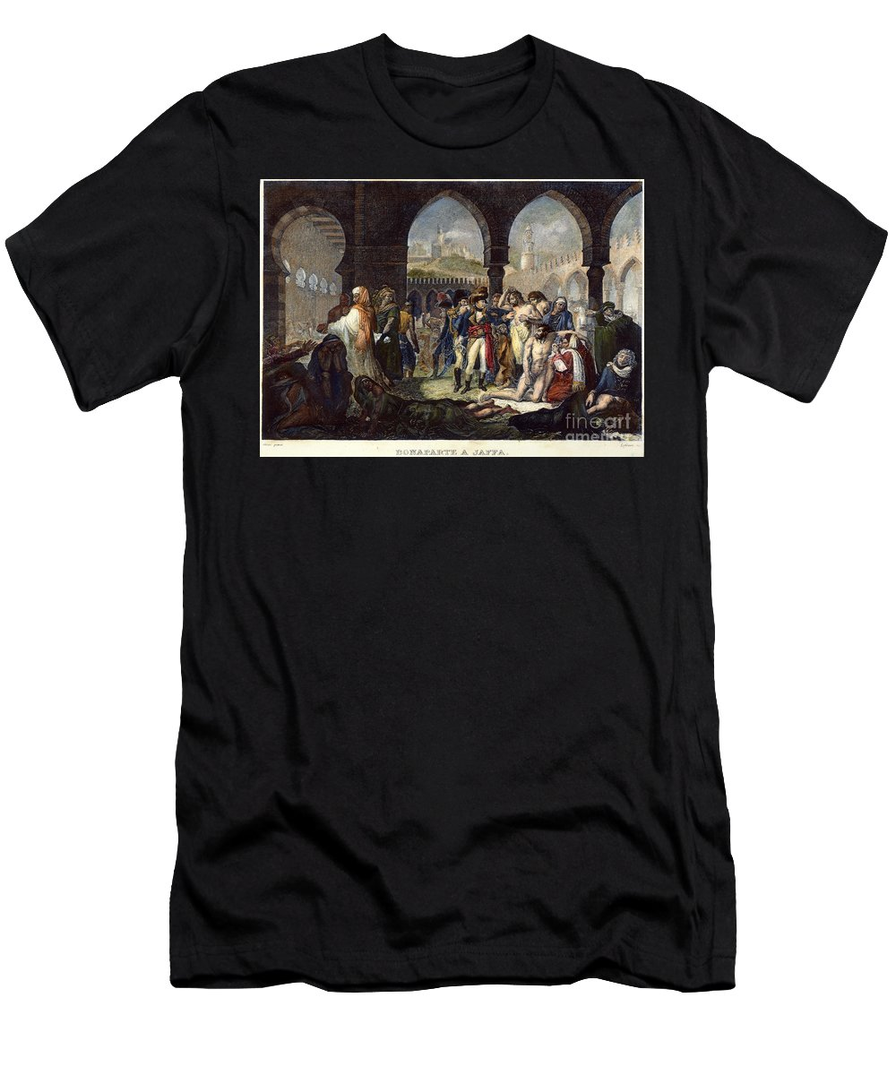 1799 Men's T-Shirt (Athletic Fit) featuring the photograph Napoleon In Jaffa, 1799 by Granger