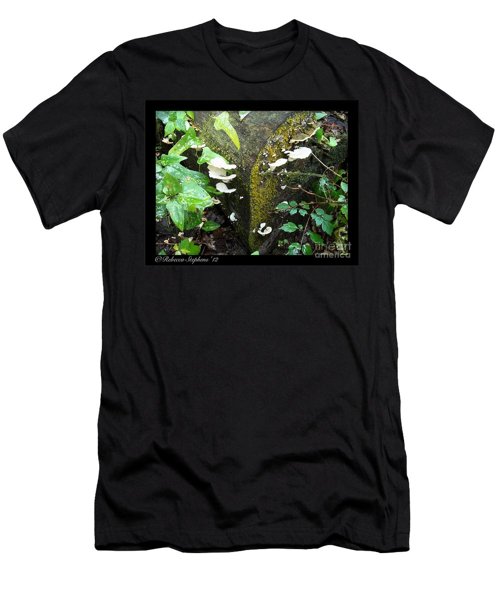 Wood Men's T-Shirt (Athletic Fit) featuring the photograph Natures Right Angle Degrees by Rebecca Stephens