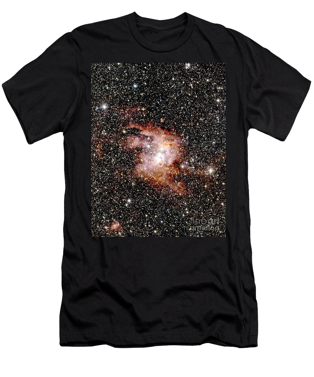 Astronomy Men's T-Shirt (Athletic Fit) featuring the photograph Nebula Ngc 3603 by 2MASS project / NASA
