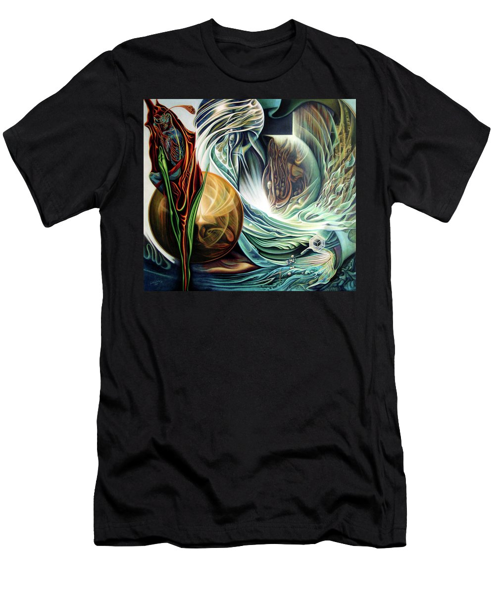 Visionary Men's T-Shirt (Athletic Fit) featuring the painting New Beginnig by Nad Wolinska