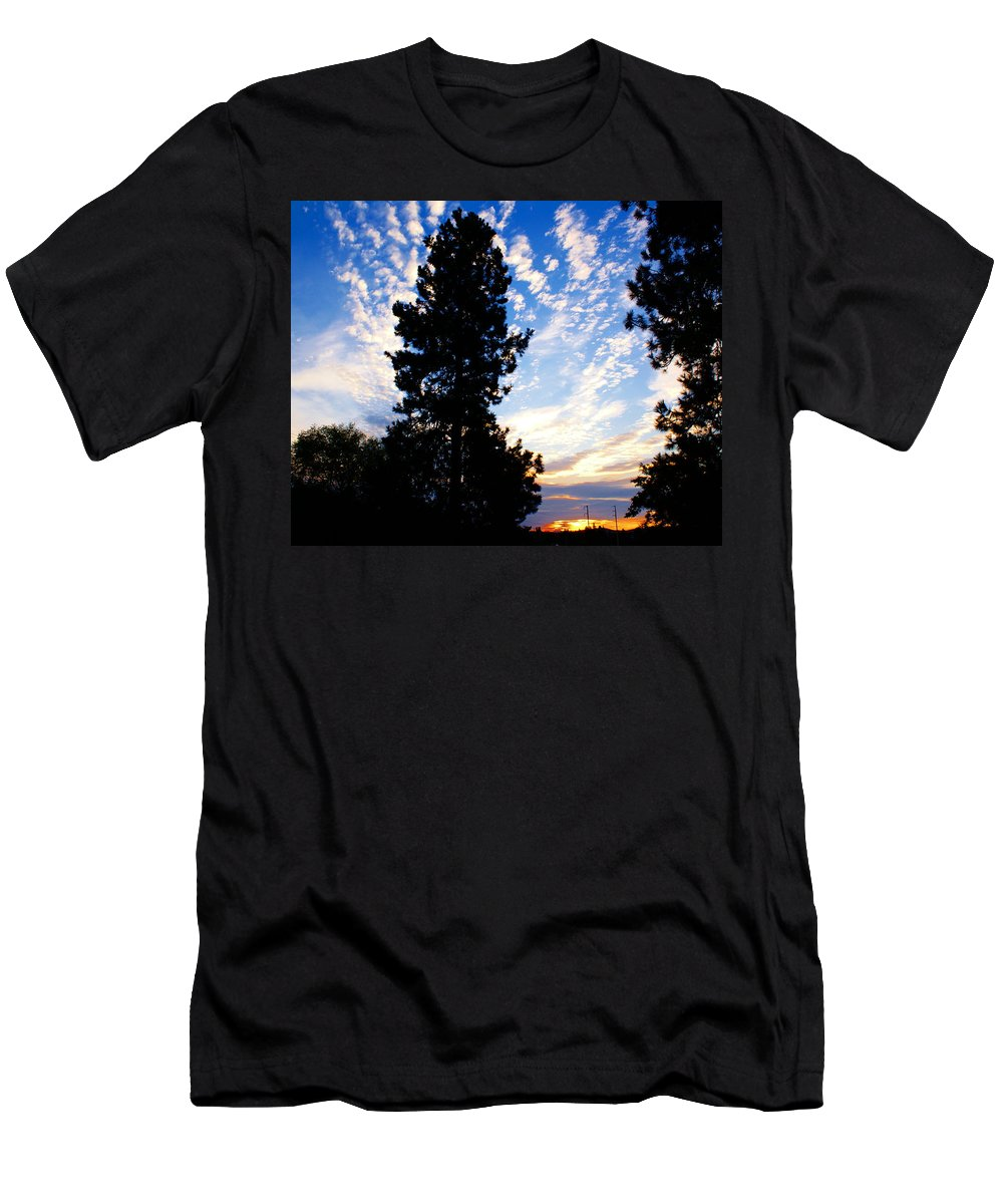 Sunrise Men's T-Shirt (Athletic Fit) featuring the photograph New Dawn Rising by Ben Upham III