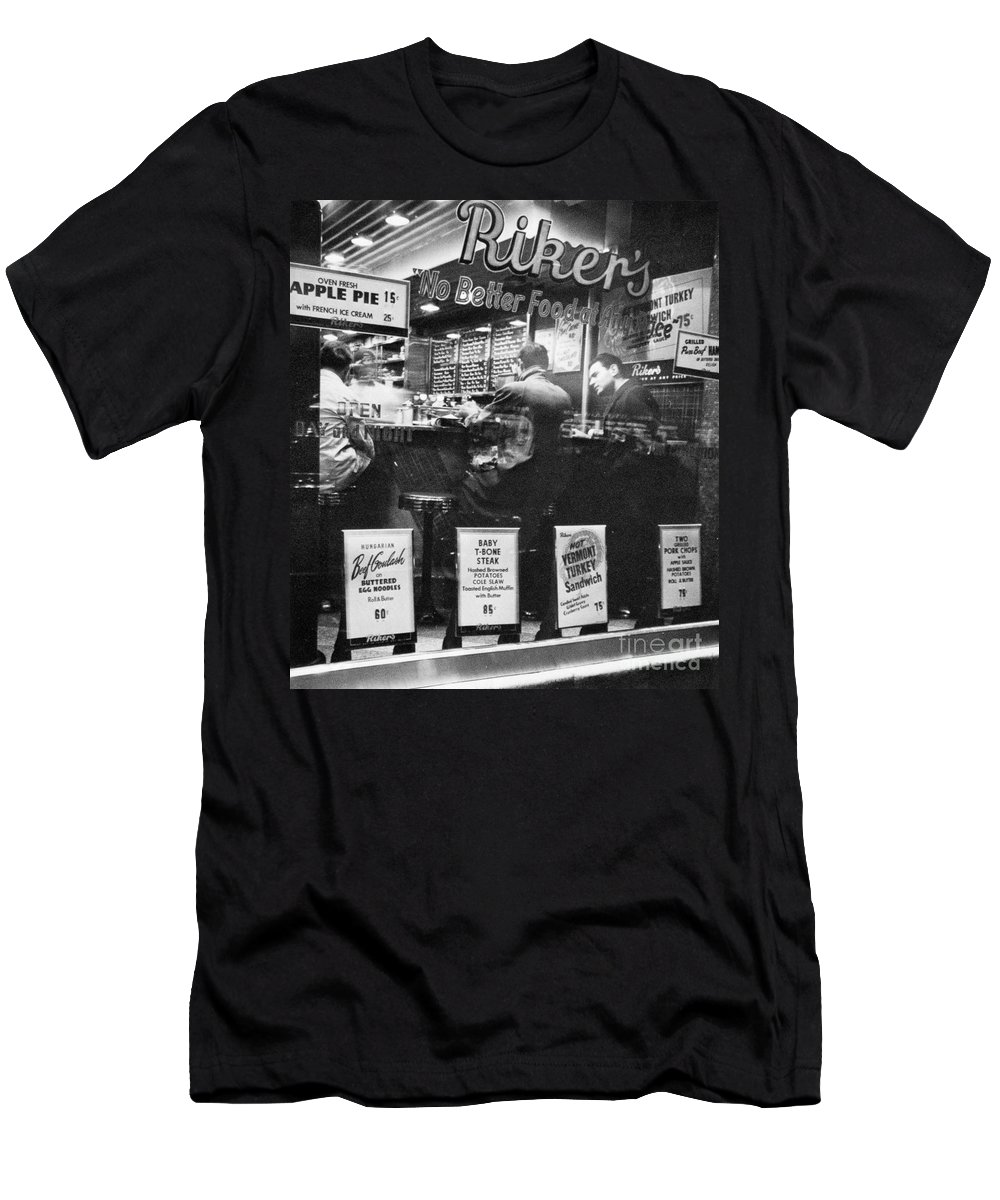 1948 Men's T-Shirt (Athletic Fit) featuring the photograph New York: Restaurant, 1948 by Granger