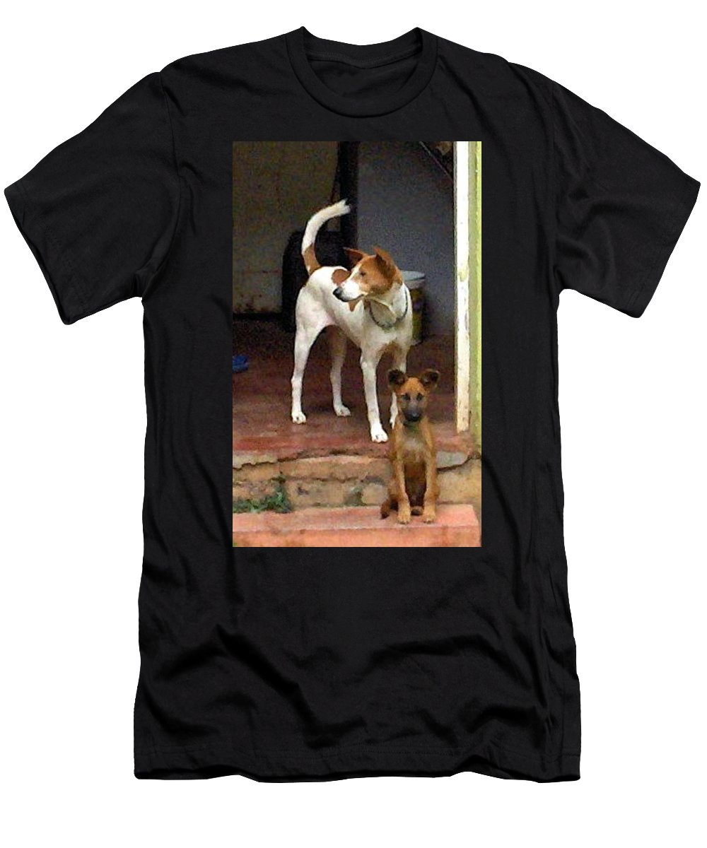 Dogs Men's T-Shirt (Athletic Fit) featuring the photograph Nigerian Doctors Helpers by Amy Hosp