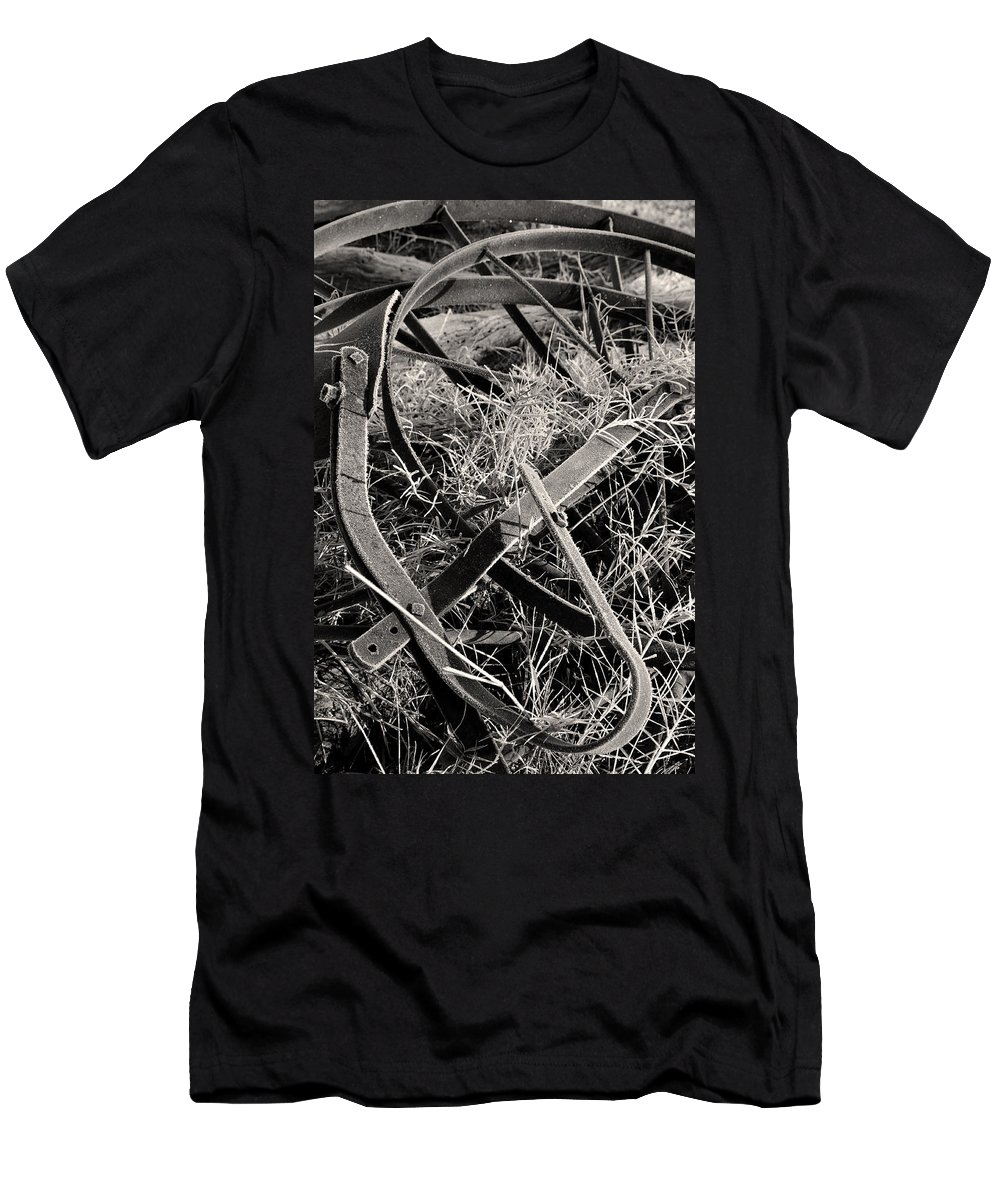 Antique Men's T-Shirt (Athletic Fit) featuring the photograph No More Plowing by Ron Cline