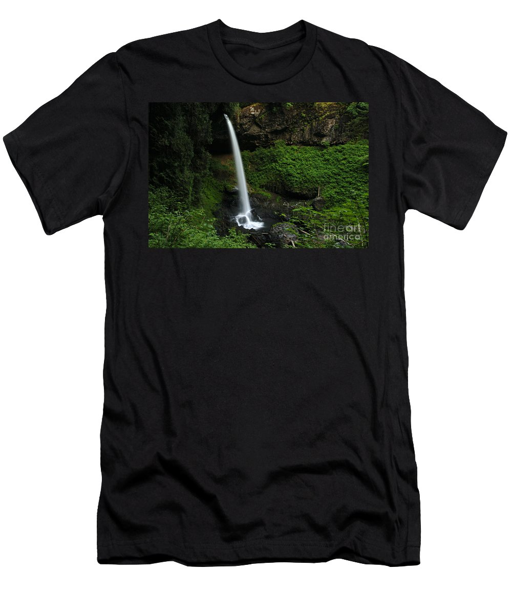 North Falls Men's T-Shirt (Athletic Fit) featuring the photograph North Falls Oregon by Bob Christopher