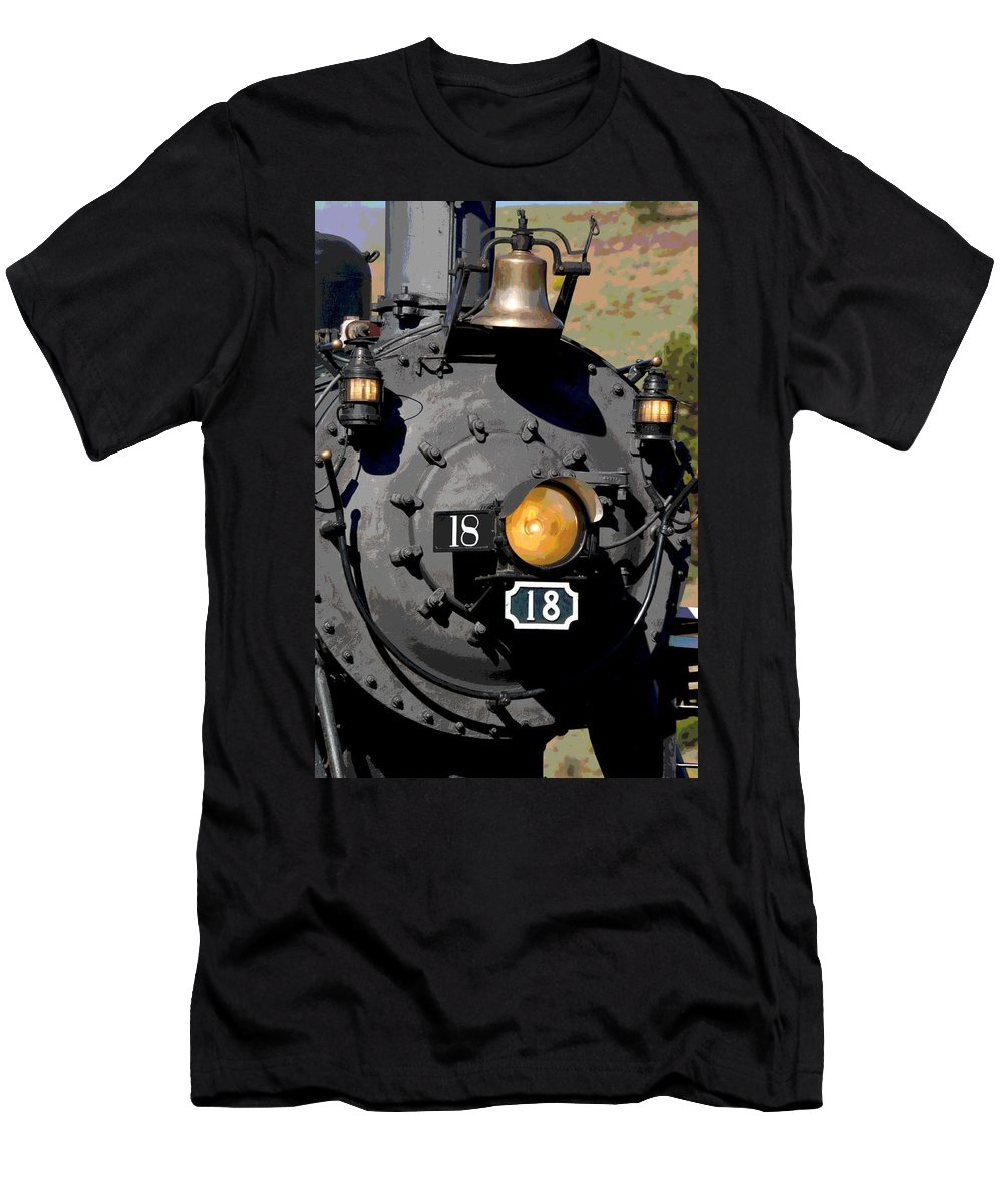 Train Men's T-Shirt (Athletic Fit) featuring the photograph Number 18 by Ron Weathers