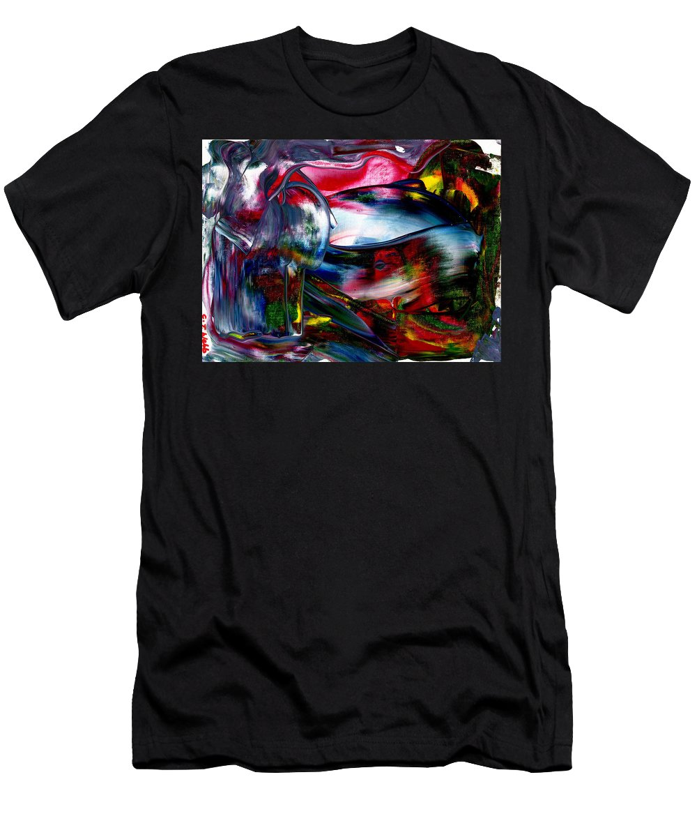 Obsessed With The Future Men's T-Shirt (Athletic Fit) featuring the painting Obsessed With The Future by Taylor Webb