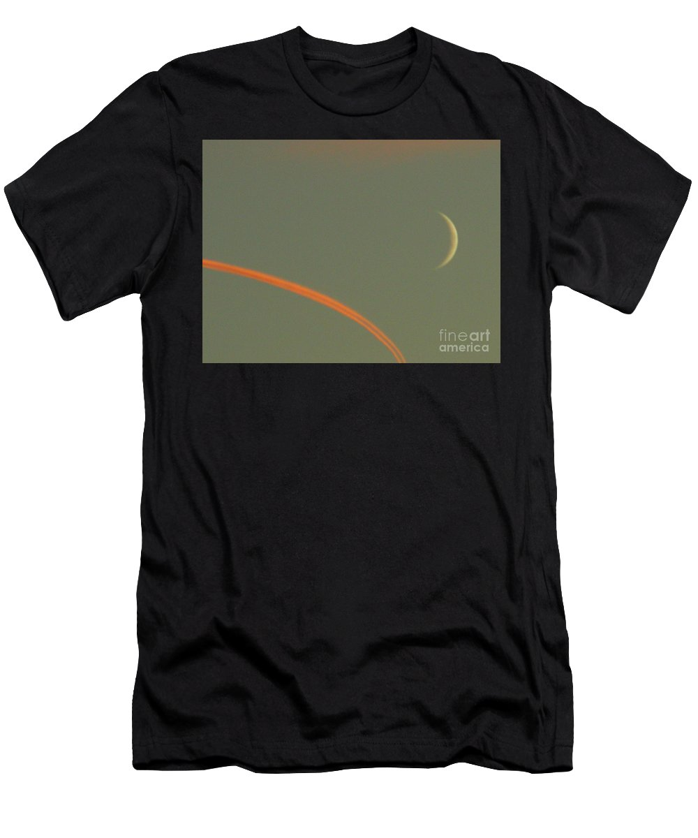 Moon Men's T-Shirt (Athletic Fit) featuring the photograph October 14 2007 by Mark Gilman