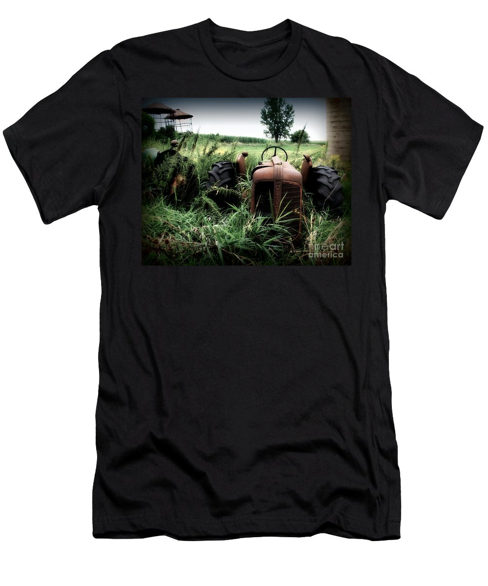 Tractor Men's T-Shirt (Athletic Fit) featuring the photograph Old Oliver 3 by Perry Webster