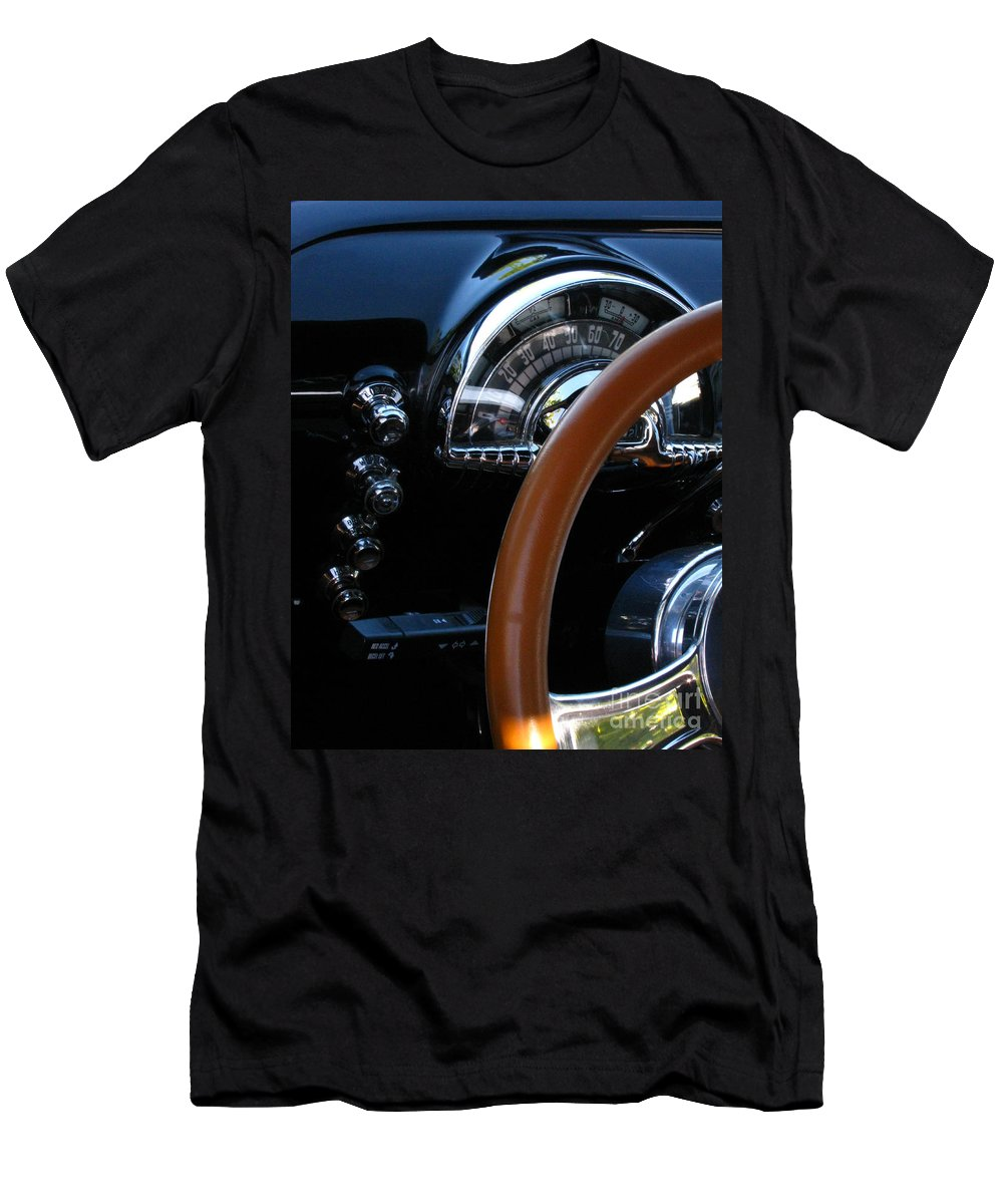 Oldsmobile 88 Men's T-Shirt (Athletic Fit) featuring the photograph Oldsmobile 88 Dashboard by Peter Piatt