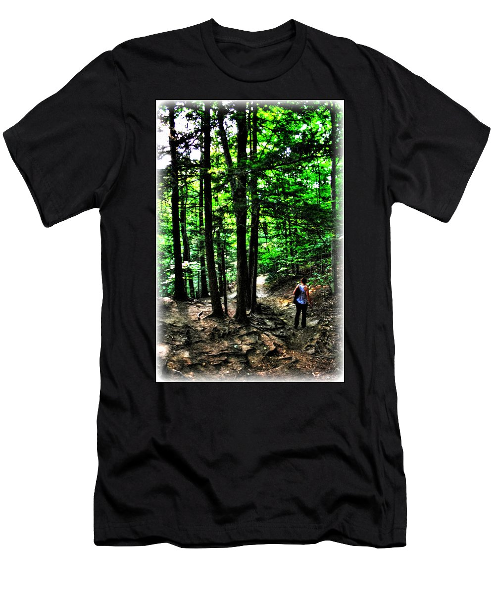 Men's T-Shirt (Athletic Fit) featuring the photograph On Our Way Chasing The Eternal Flame At Chestnut Ridge Park by Michael Frank Jr