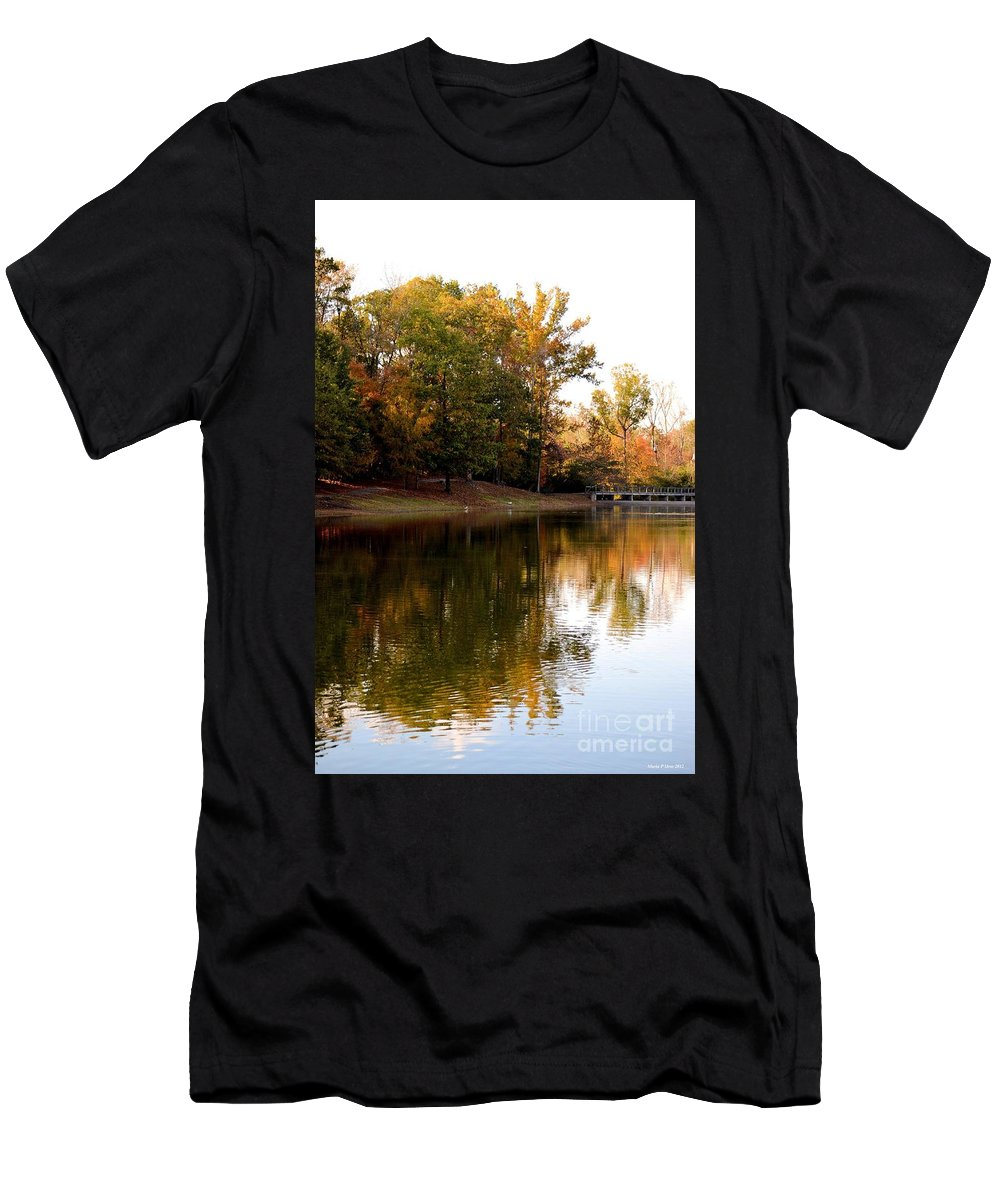 One October's Dream Men's T-Shirt (Athletic Fit) featuring the photograph One October's Dream by Maria Urso