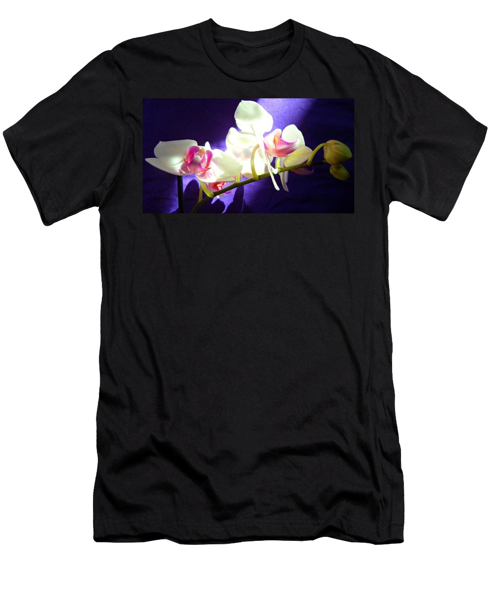 Orchids Men's T-Shirt (Athletic Fit) featuring the photograph Orchid 3 by Kume Bryant