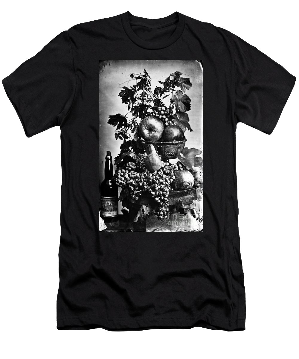 19th Century Men's T-Shirt (Athletic Fit) featuring the photograph Oregon: Wine & Grapes by Granger
