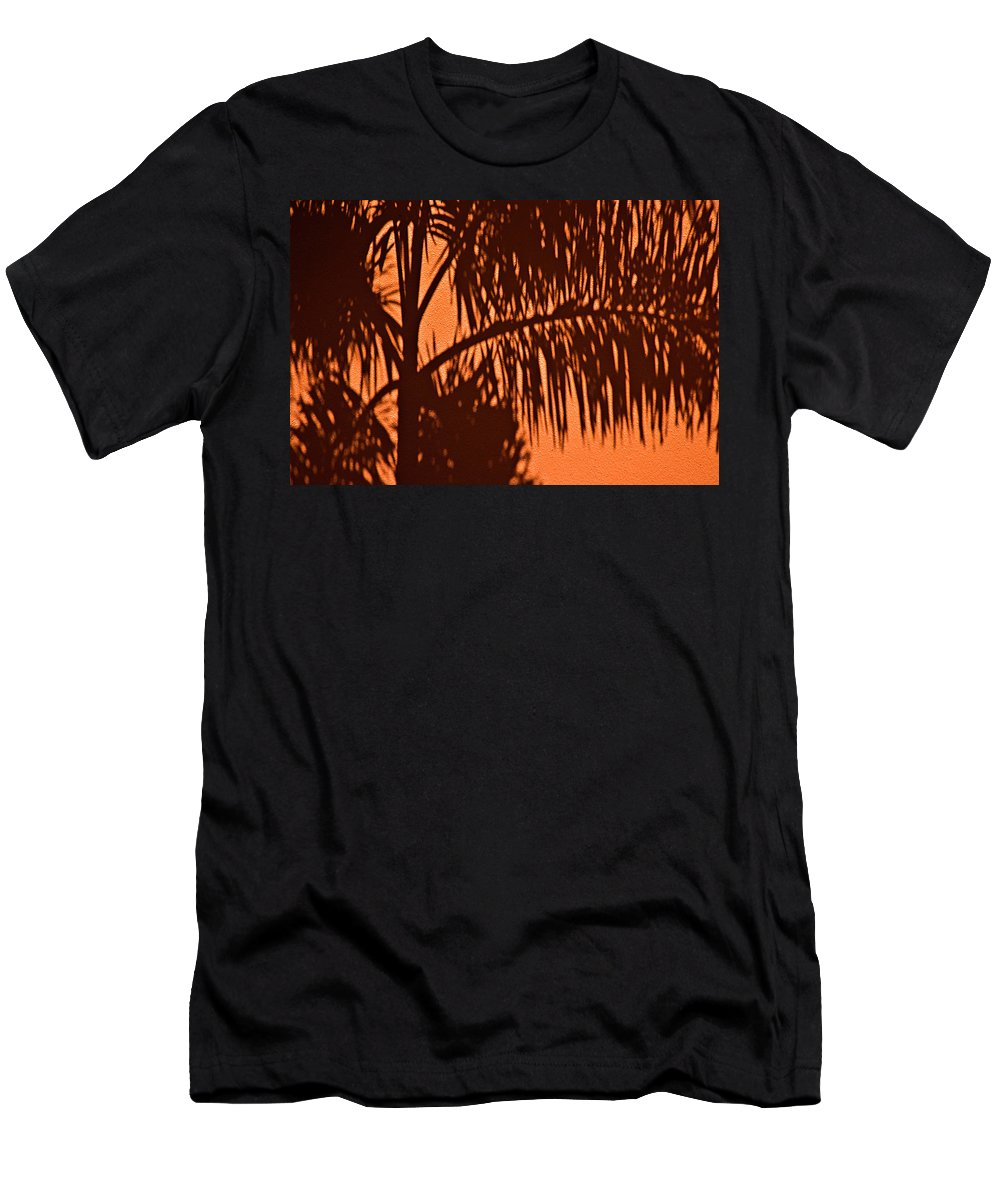 Palm Frond Men's T-Shirt (Athletic Fit) featuring the photograph Palm Frond Abstract by Carolyn Marshall
