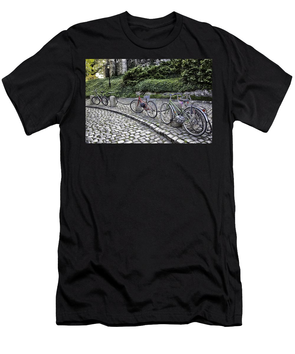 Bike Men's T-Shirt (Athletic Fit) featuring the photograph Parked 2 by Madeline Ellis
