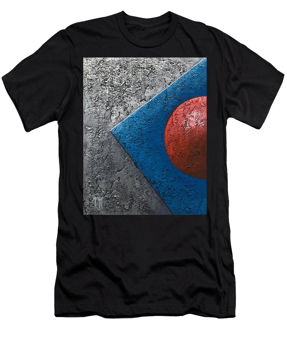 Art Men's T-Shirt (Athletic Fit) featuring the painting Part Sphere 1 by Mauro Celotti