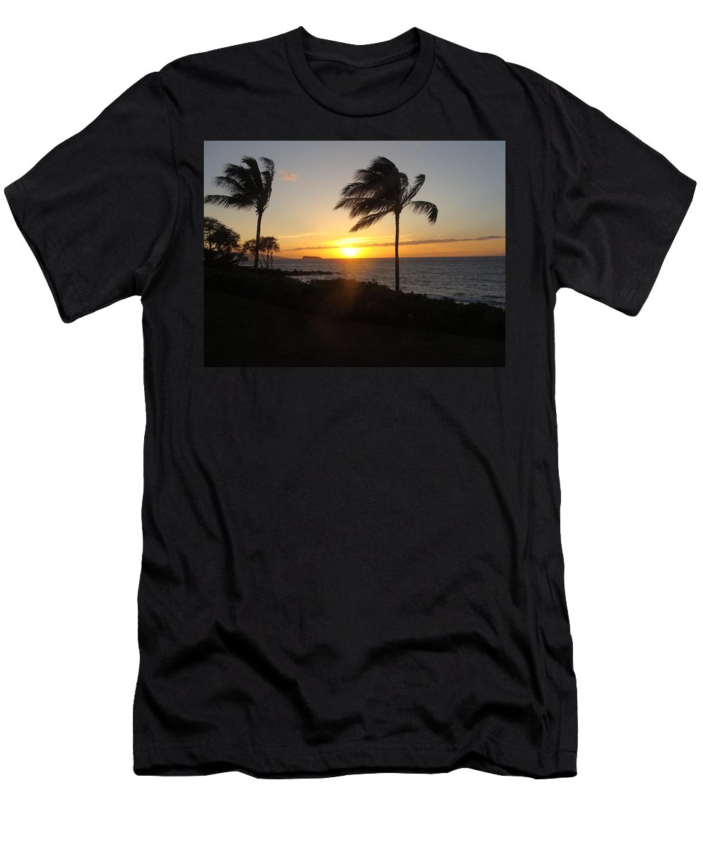 Ocean Men's T-Shirt (Athletic Fit) featuring the photograph Peace On Maui by Spike Burrows