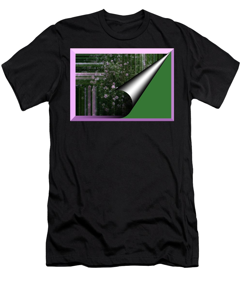 Abstract Men's T-Shirt (Athletic Fit) featuring the photograph Pealing Wallpaper by Barbara S Nickerson