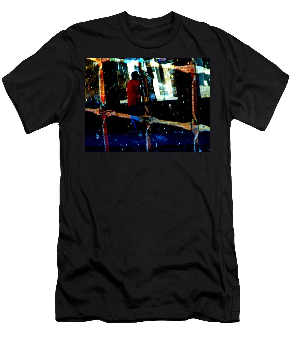 Abstract Men's T-Shirt (Athletic Fit) featuring the photograph Peeking by Lenore Senior