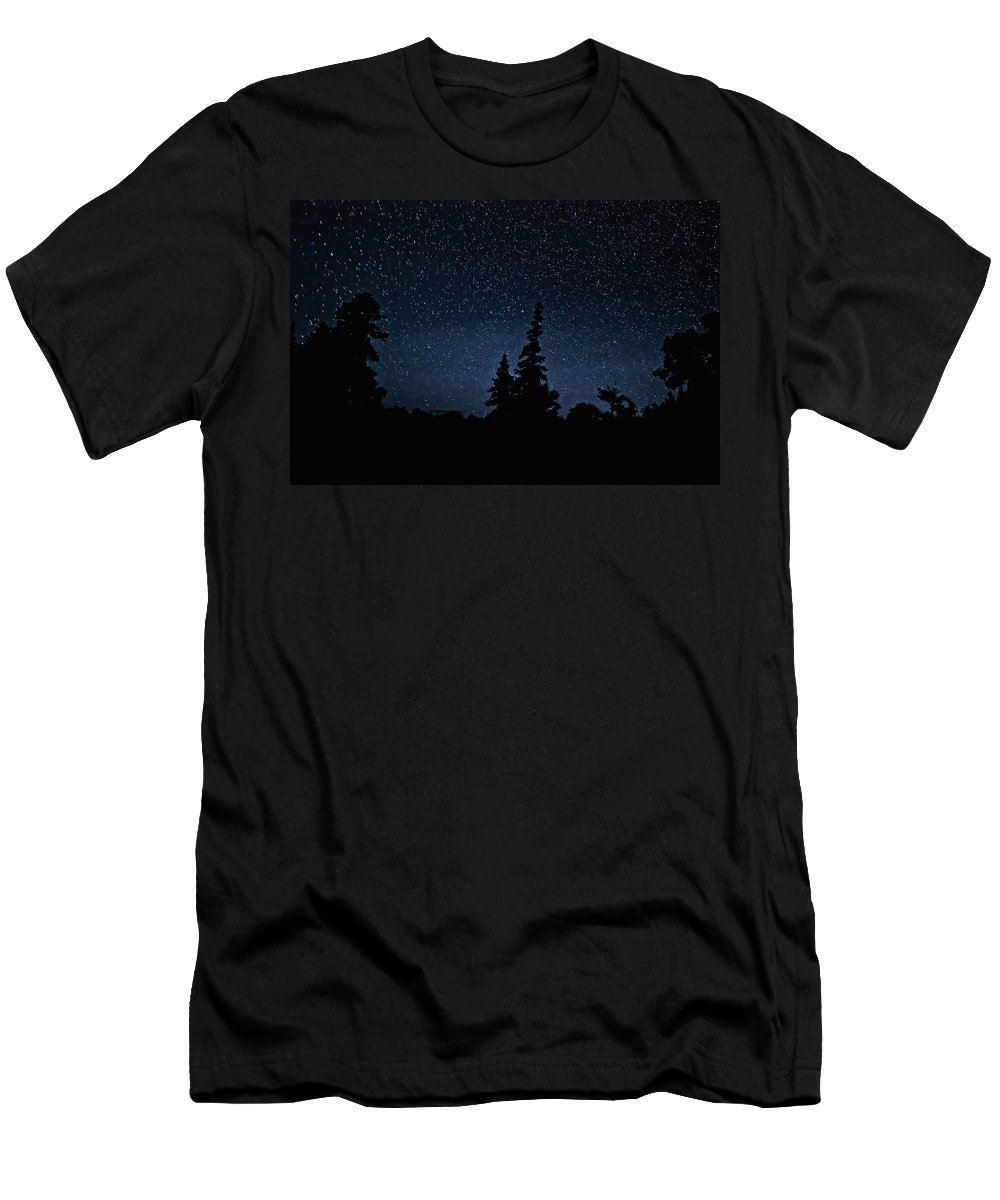 Galaxy Men's T-Shirt (Athletic Fit) featuring the photograph Perspective by Steve Harrington
