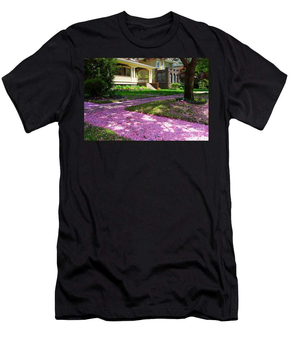 Spring Men's T-Shirt (Athletic Fit) featuring the photograph Pink Carpet by Mark Gilman