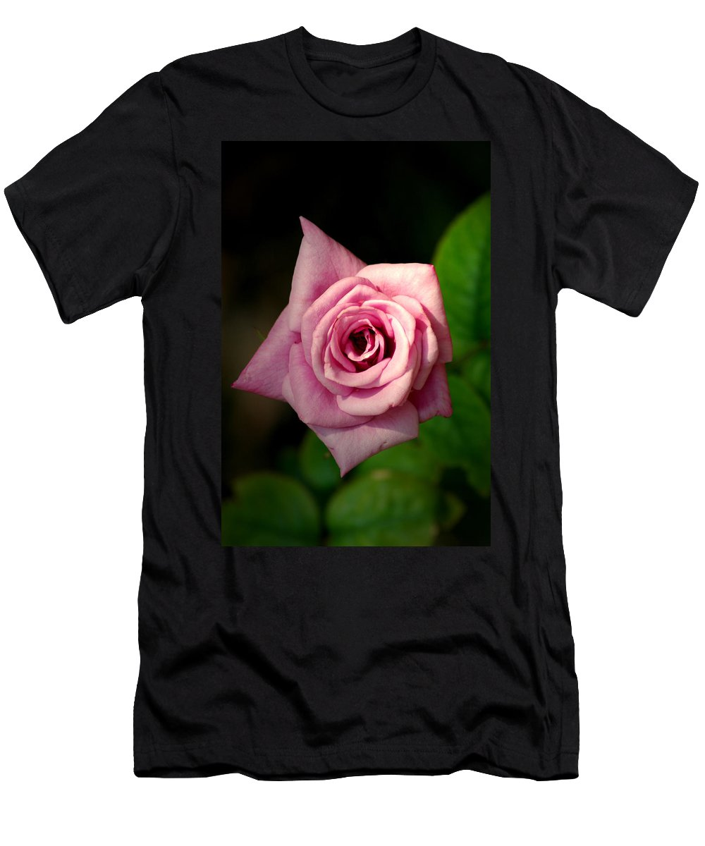 Flower Men's T-Shirt (Athletic Fit) featuring the photograph Pink Rose by David Weeks