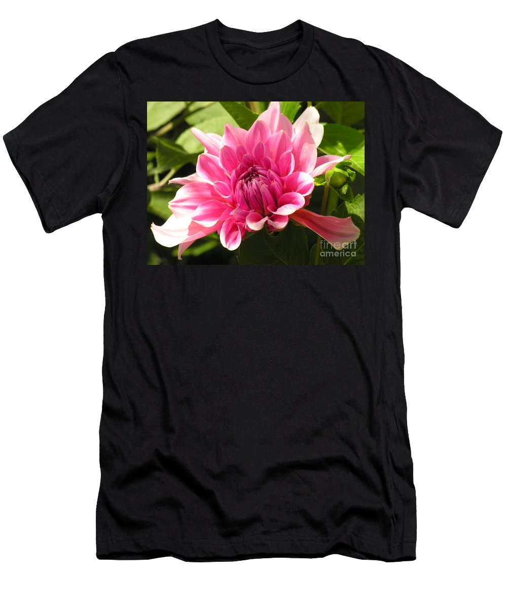 Men's T-Shirt (Athletic Fit) featuring the photograph Pinky Pink by Diane Greco-Lesser