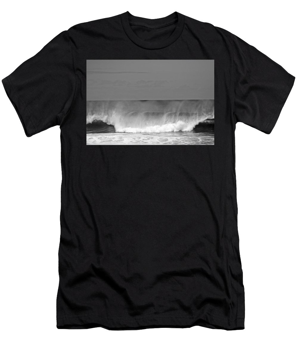 Pipeline Men's T-Shirt (Athletic Fit) featuring the photograph Pipeline Break by Ty Helbach
