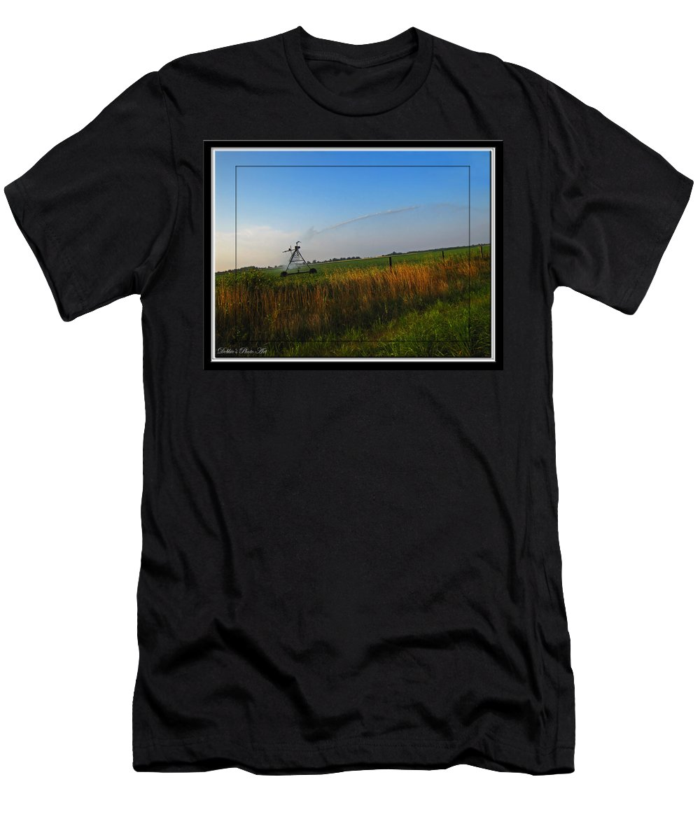 Men's T-Shirt (Athletic Fit) featuring the photograph Playing In The Sprinkler by Debbie Portwood