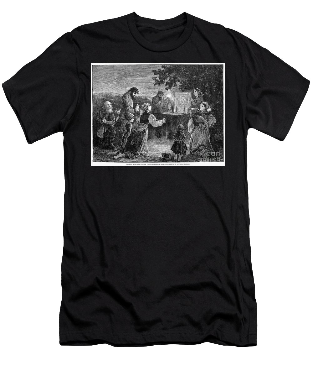 1873 Men's T-Shirt (Athletic Fit) featuring the photograph Poland: Cholera, 1873 by Granger