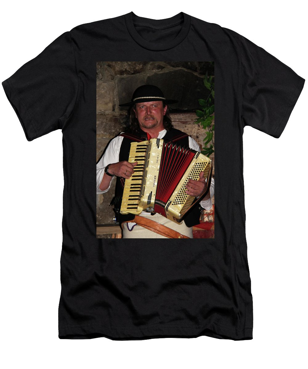 People Men's T-Shirt (Athletic Fit) featuring the photograph Polish Highlander by Mariola Bitner